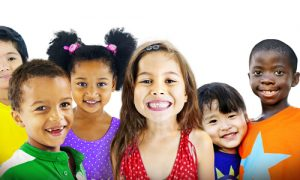group of 6 happy children