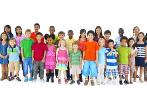 large group of children of different ages